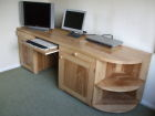 Computer Desk in solid English Ash