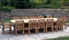 English Oak Garden Table & Chairs