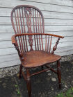 Yew and elm Windsor chair