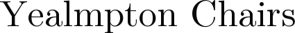 www.yealmptonchair.co.uk Logo